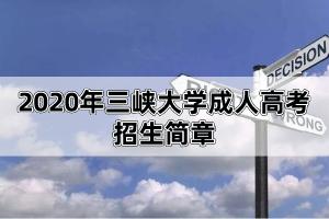 2020年三峡大学成人继续教育招生简章